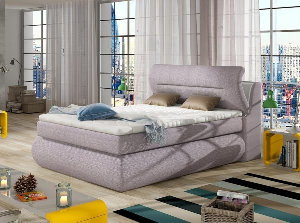 Upholstered Box Spring Bed Pula