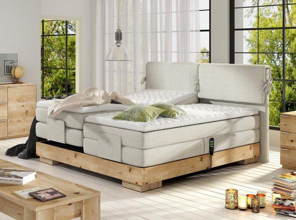 Electric Wooden Box Spring Bed Valva