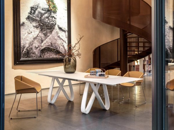 Extendable Glass Dining Table Butterfly by Tonin Casa