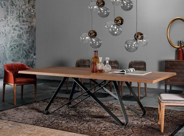 Modern Wooden Dining Table Status by Tonin Casa